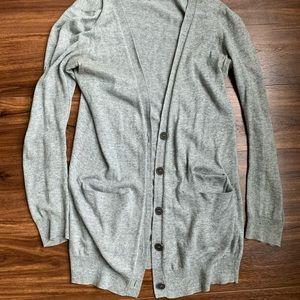 Madewell heather gray cotton cardigan size S